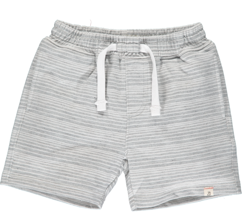 Bluepeter sweatshorts grey/white stripes