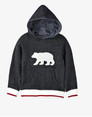 Charcoal Bear Heritage Pullover Hoodie