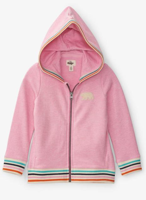 Pink Bear Kids Heritage Full Zip Hoodie