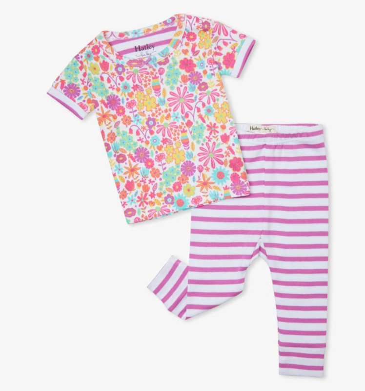 mini flowers s/s pajamas