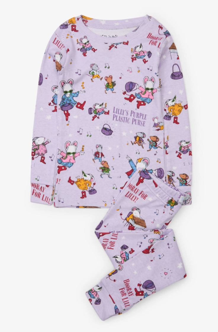Lilly's Purple Plastic Purse pj's