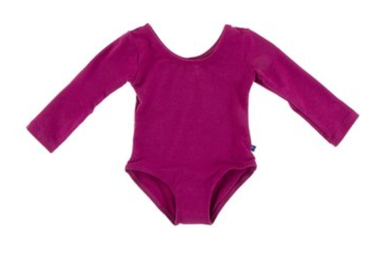 Solid L/S Performance Jersey Leotard Orchid