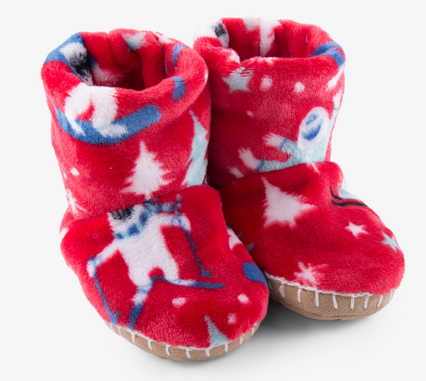 mountain monsters fleece slippers sm