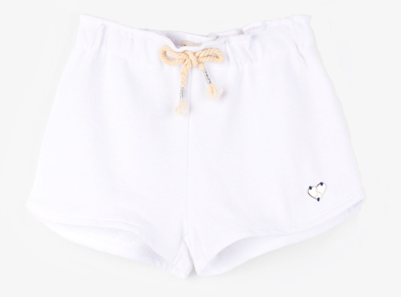 French Terry Adventure Shorts-White