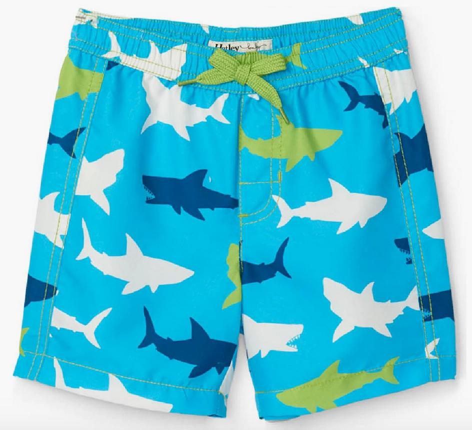 Great White Shark Swim Trunks