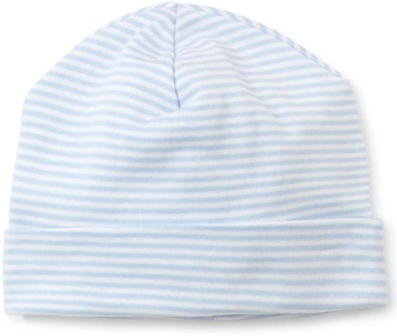 stripes hat light blue
