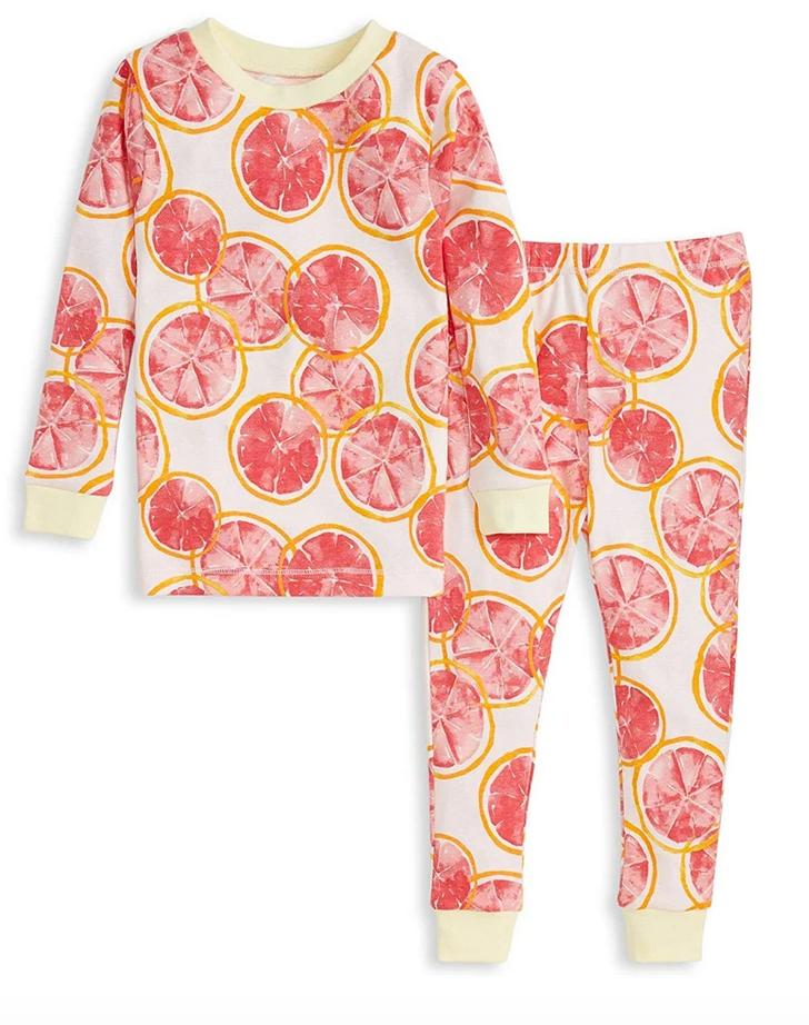 Grapefruit Tee and Pant Pj Set