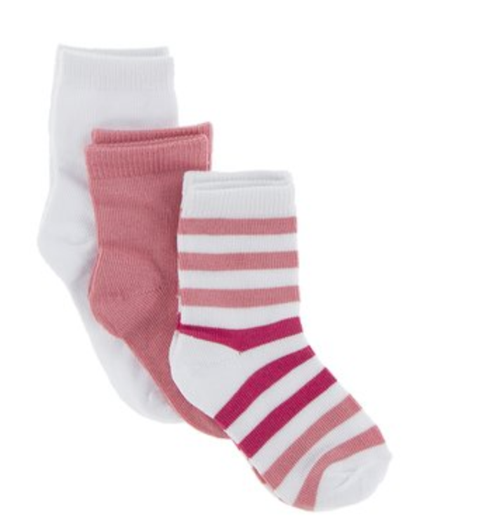 Kickee Pants Socks Set Forest Fruit Stripe