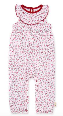 Cherry Bunches Jumpsuit-Cloud