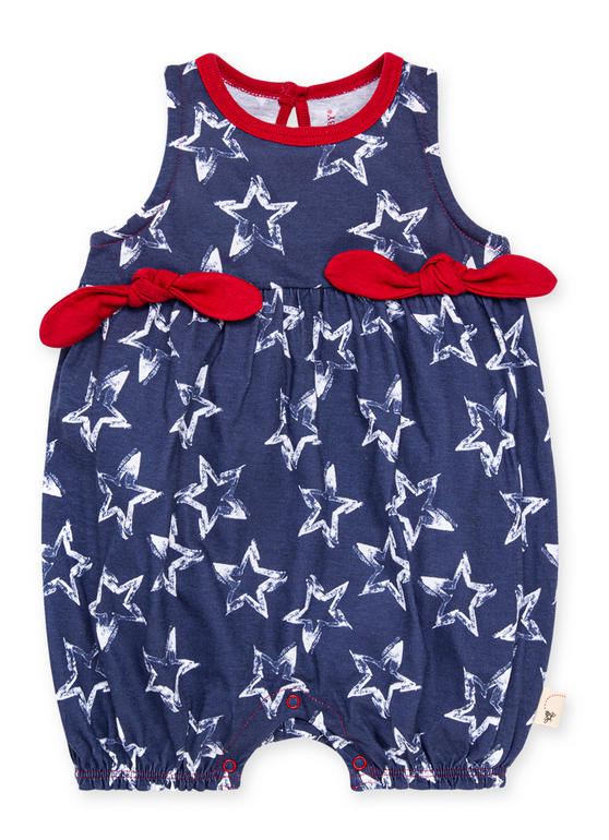 Painted Star Bubble Romper