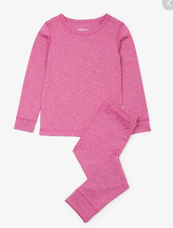 Pink Melange Ski underwear set 7