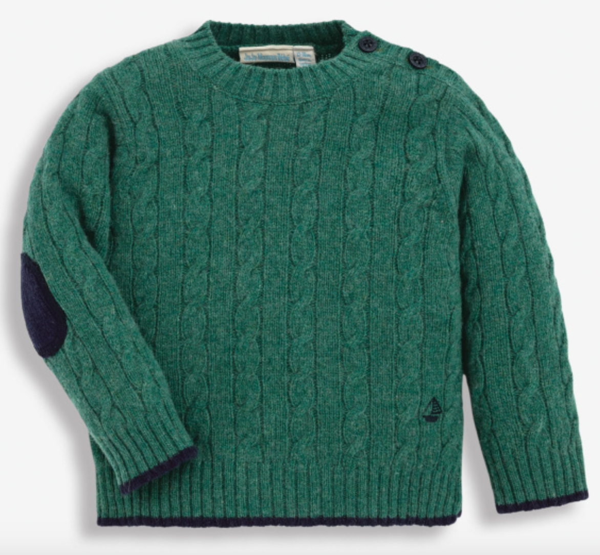 Cable knit sweater-Green