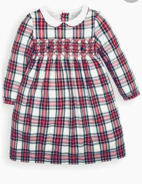 Smocked Tartan Party Dress