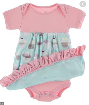Summer Sky Cupcake s/s dress romper