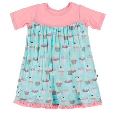Summer sky cupcakes s/s swing dress