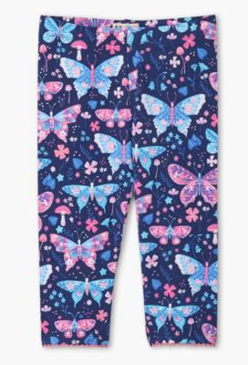 Botanical Butterfly Capri Leggings