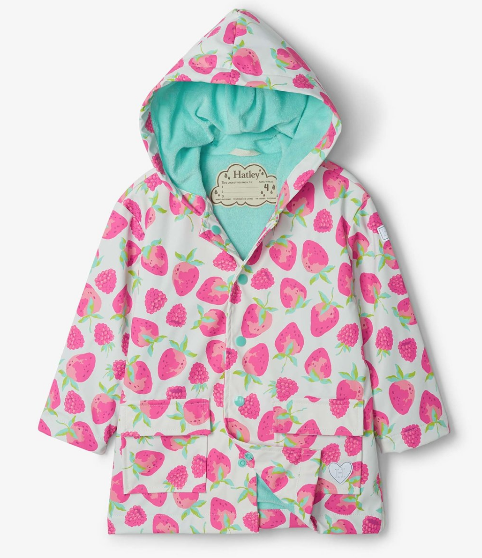 Delicious Berries Raincoat
