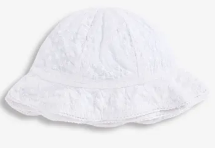 Broderie Anglaise sunhat white