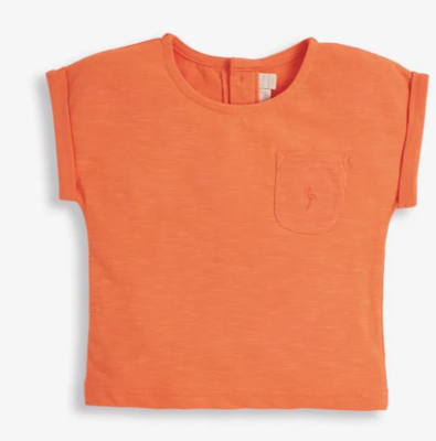 slub jersey t shirt coral