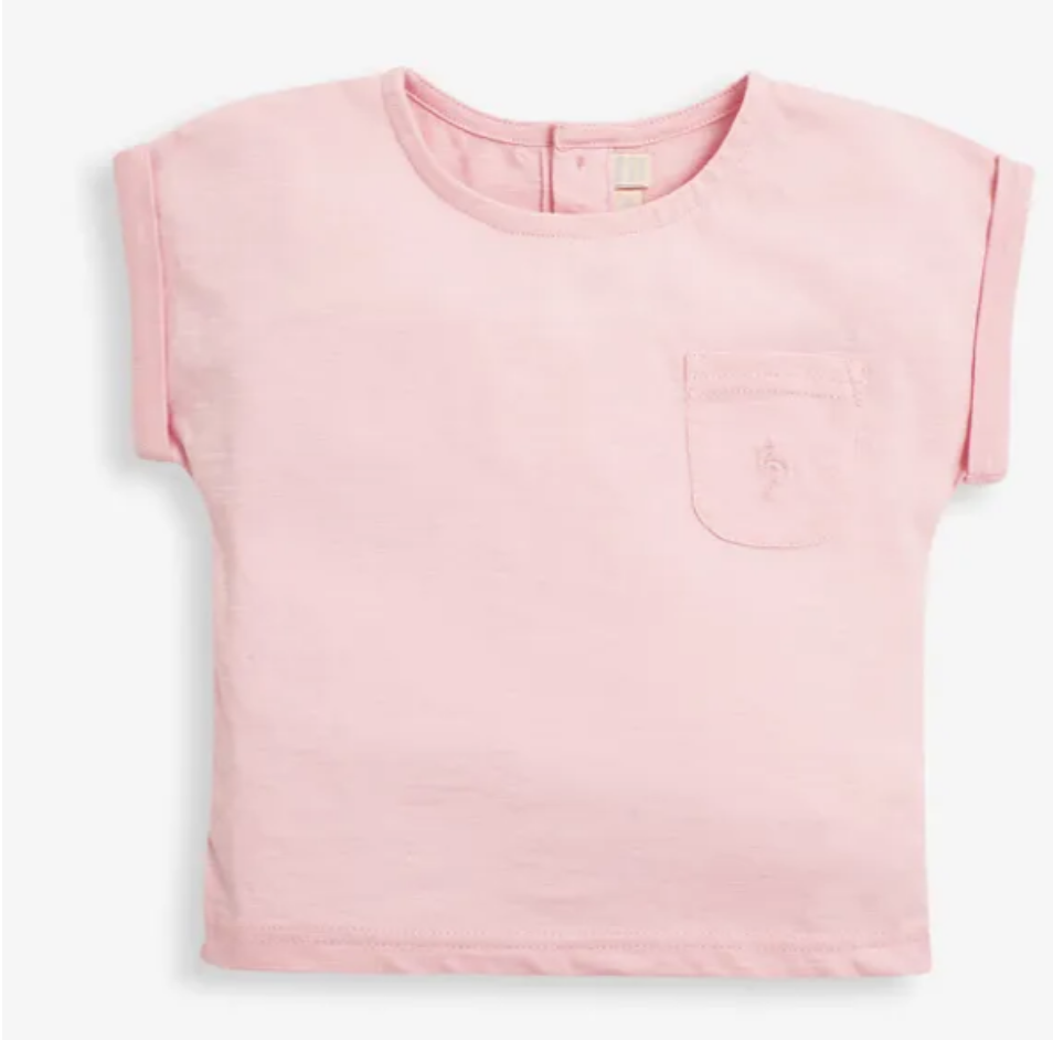 slub jersey t shirt pink