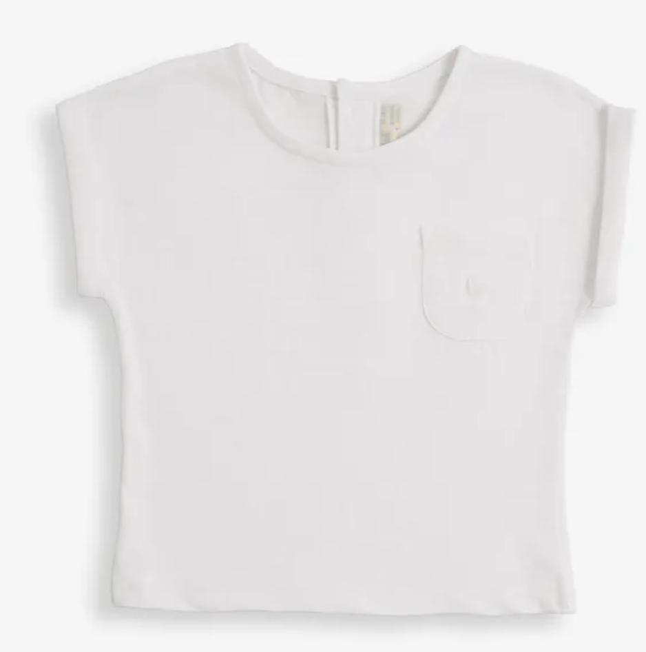 slub jersey t shirt white