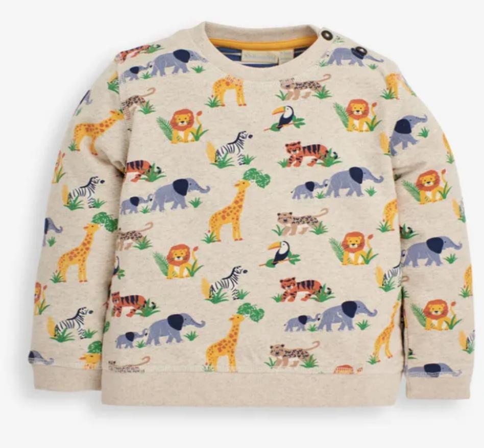 Safari print sweatshirt stone