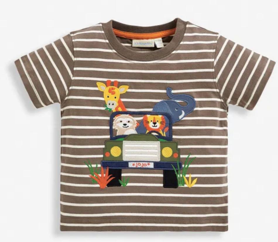 Jeep applique t-shirt mocha