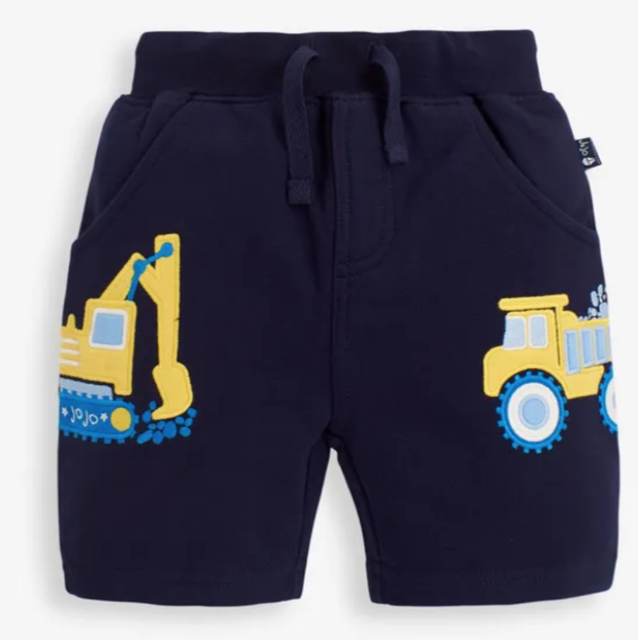 Digger applique' shorts navy