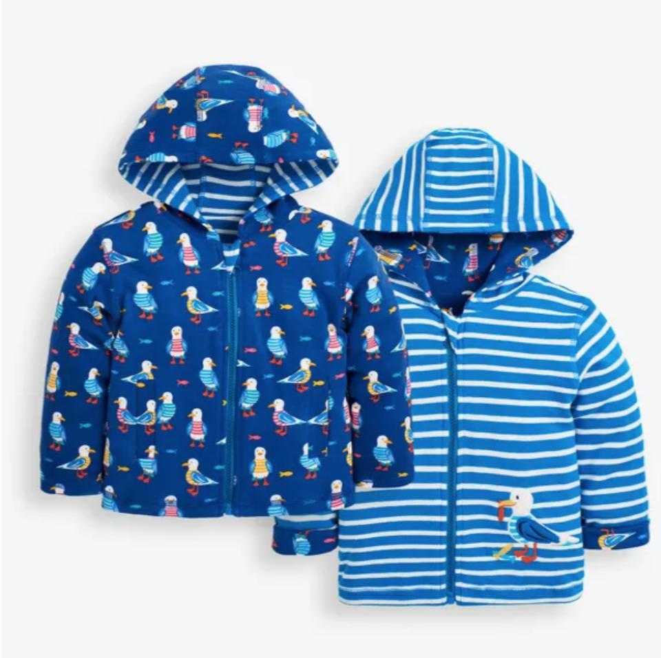Seagull reversible hoodie