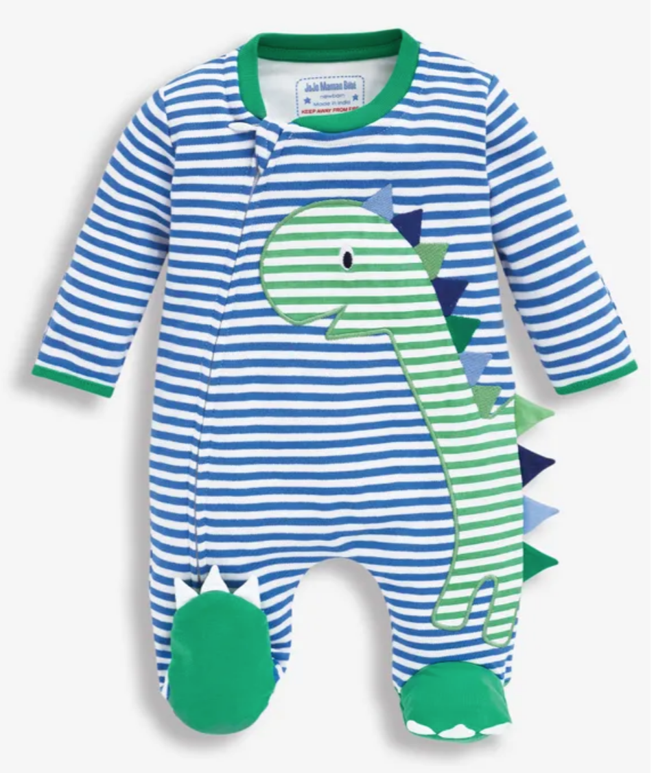 Dino applique sleepsuit