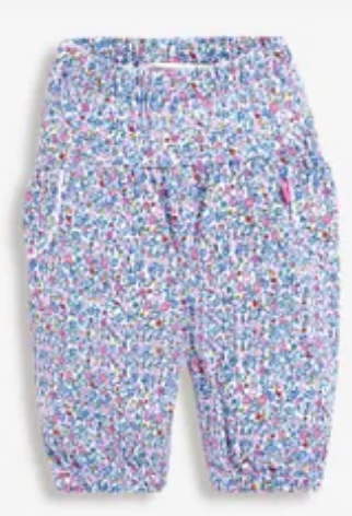 baby trousers yellow ditsy floral
