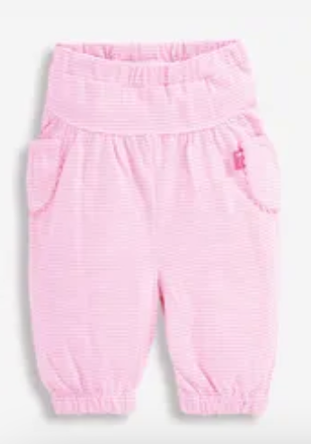 baby trousers pink stripe 12-18