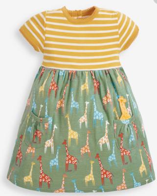 Stripe & giraffe print dress seaspray