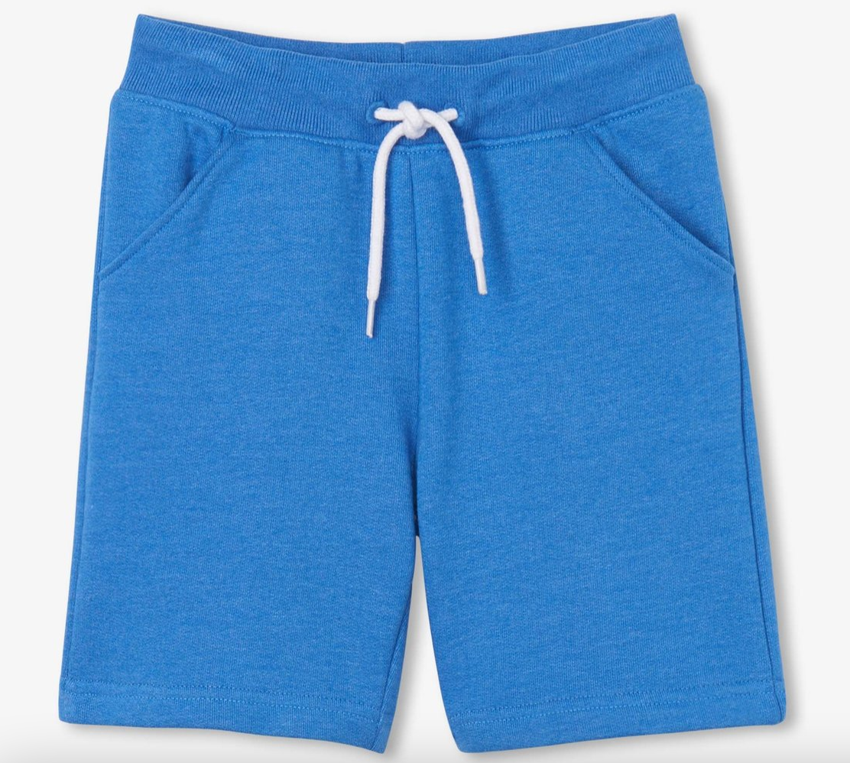 Blue  Melange Terry Shorts