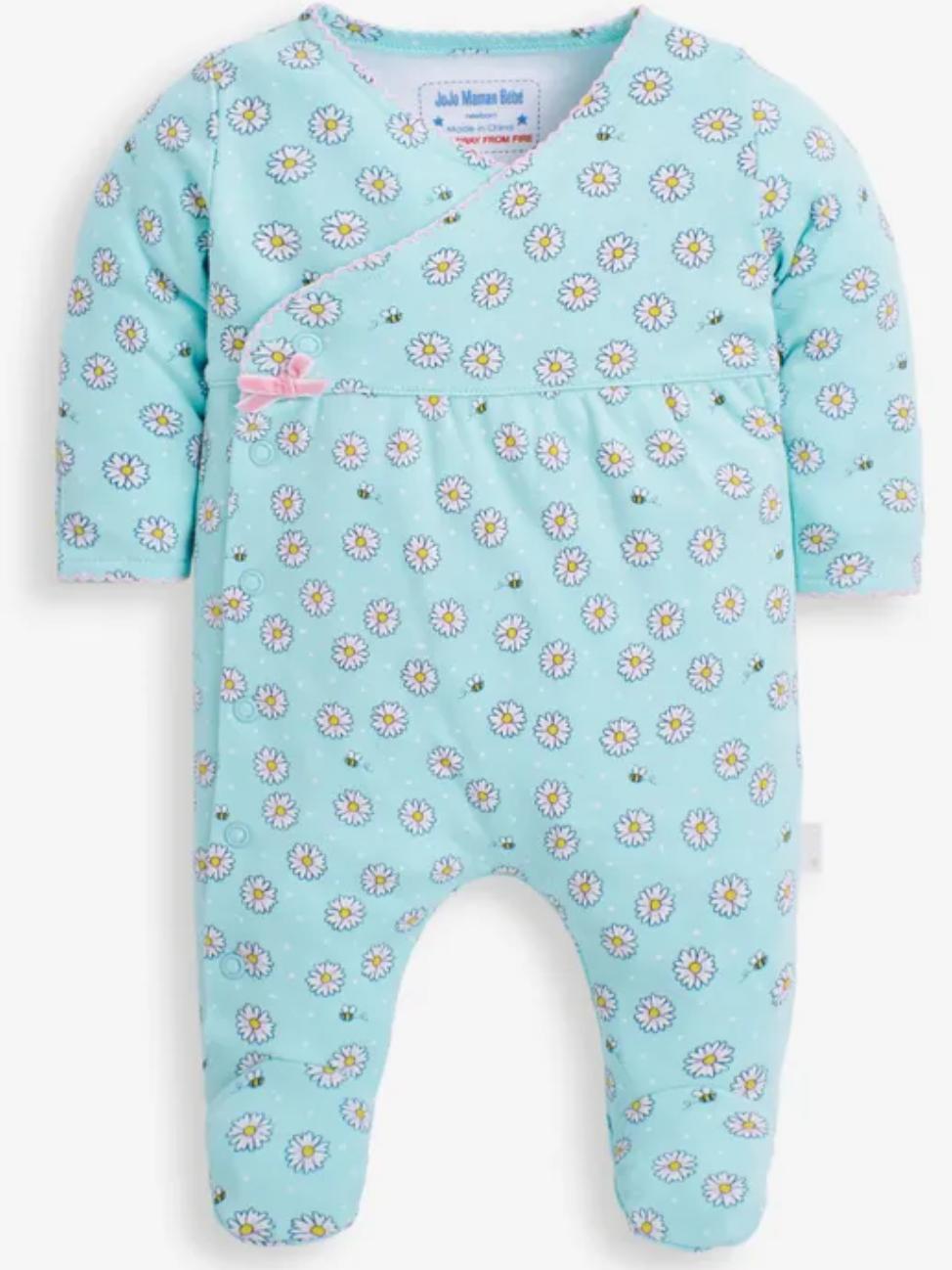Daisy print sleep suit