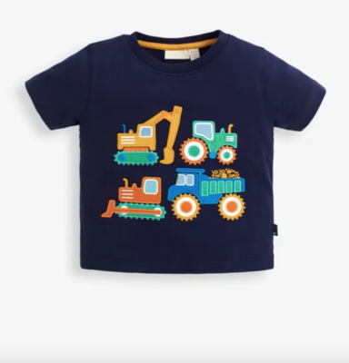 Construction Truck Applique T-Shirt