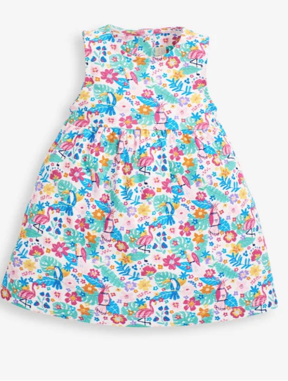 Tropical Bird Summer Dress