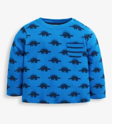 Stegosaurus print top cobalt