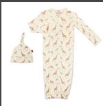 Cream Jolie Giraffe Organic Magnetic Me Gown Set