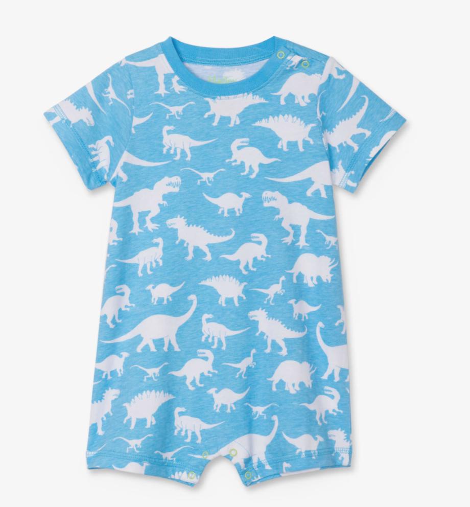 Dino Silhouettes Baby Romper