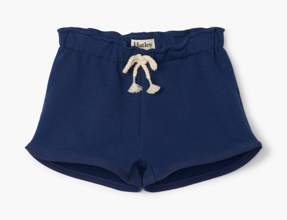 Navy Paper Bag Shorts