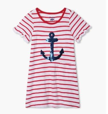 Flip Sequin Anchor Tee Shirt Dress