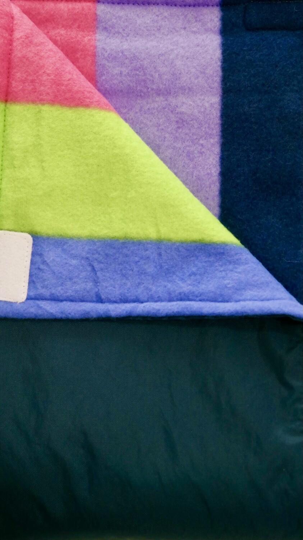 Maine River Otter Blanket 71c Navy /Bright Stripe