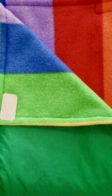 Maine River Otter Blanket 72c Green Rainbow Stripe