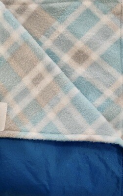 Maine River Otter Blanket 74c Roo Blue with Blue/Grey Plaid