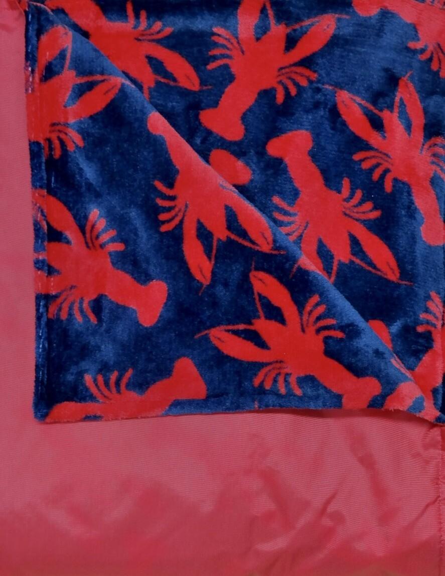 Maine River Otter Blanket 1C-Red/Lobster