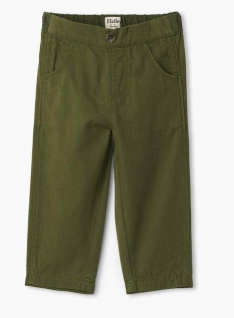 Jungle Green Baby Twill Pants