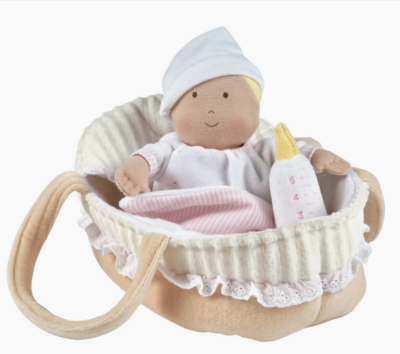 Carry Cot with baby Grace