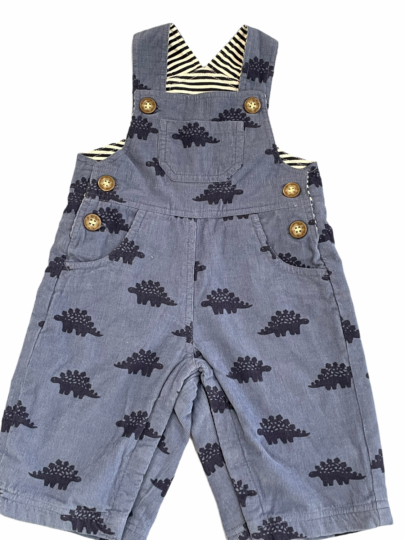 Jojo dino print lined cord overalls