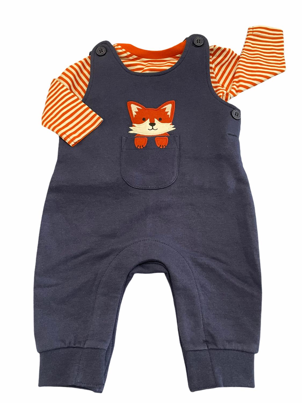 jojo fox heavy knit jersey overalls set